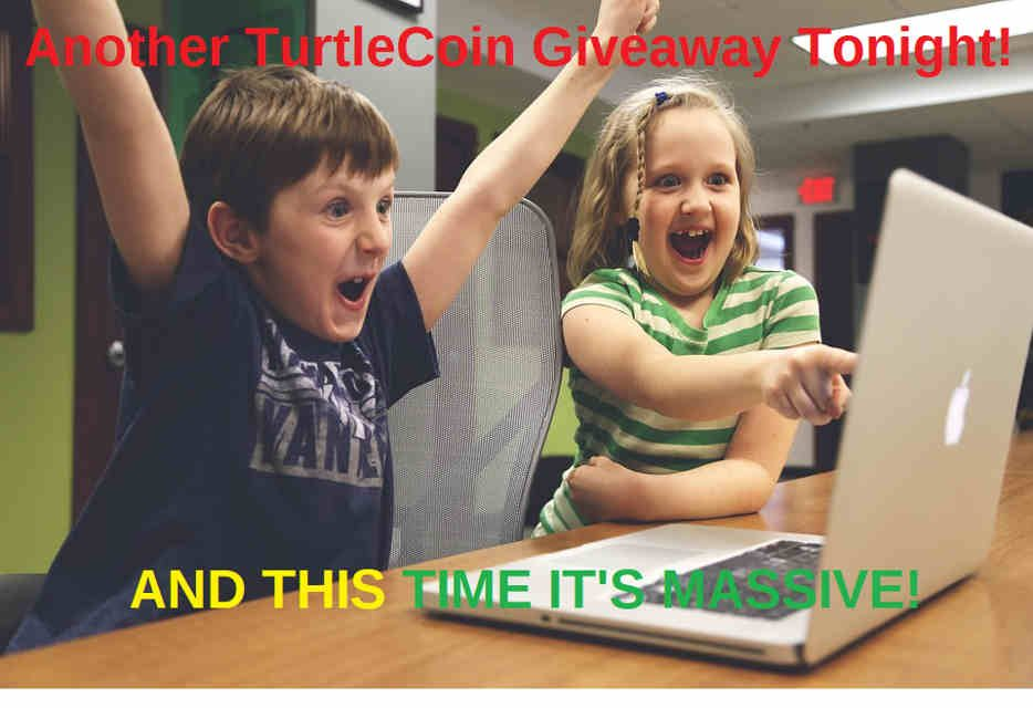 TurtleCoin Typhoon Is Tonight! Millions of TurtleCoins Mined Directly Into TurtleBotRain and Rained Down Right Into Your Wallet!